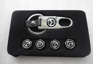 Сплава алюминия шин клапан крышки 4 шт. / компл. автомобильные аксессуары шин клапан стволовых крышки для MAZDA CX-5 CX5 2013