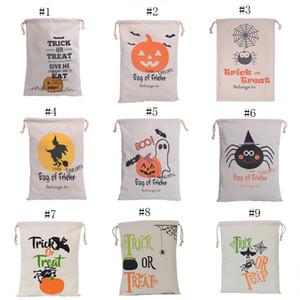 Christmas gift bag Handbag Halloween pumpkin printing Drawstring bag kids candy bag 48*36cm C2483