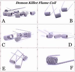 100% Аутентичные Demon Killer Пламя Катушки Готовый Провод 316L Предварительно встроенный Нагреватель Готовые Провода 6 Типов Сопротивления Для DIY Vape Распылители RDA eCig