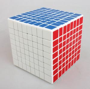 Spedizione gratuita Shengshou Magic Puzzle Cube 8x8x8 (adesivo in PVC, bianco nero) Speed Professional Competition Cube Magic Kid giocattolo educativo