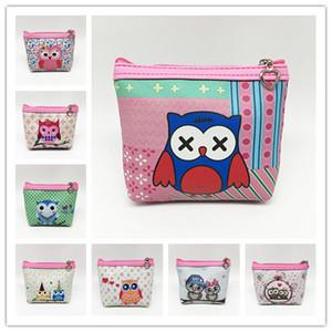 Cute Owl mini handbag cartoon print coins bag girls pretty animal pu printing pouch