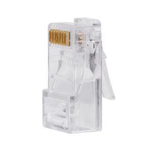 Freeshipping 100 Parte / Packs Cat5 Cat5e Rede Internet Conector RJ45 8P8C cabo Modular Plug Heads