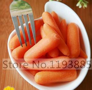 200pcs 작은 손가락 당근 미니 당근 오렌지 육즙 달콤한 야채 씨앗 홈 가든 심기에 대한 야채 씨앗