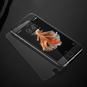 0.1mm 초박형 프리미엄 강화 유리 스크린 보호기 강화 된 보호 필름 iPhone 6 6s 7 8 plus X XS MAX XR