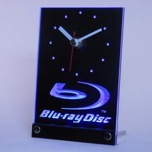 Vente en gros-tnc0430 Blu-ray Disc Table Bureau LED 3D Horloge