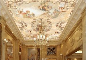 3d tavan duvar resimleri duvar kağıdı özel fotoğraf kağıdı Melek Cennet Avrupa Tarzı oturma odası için tavan için 3d duvar kağıdı