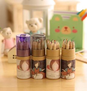 Suprimentos de escrita Secret Garden Lápis de Colorir Enchanted Floresta Pintura Canetas Lápis de Cor Criativo Ferramentas de Escrita 12 cores de Coloração =