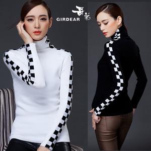 도매 -2016 새로운 여성 캐시미어 스웨터 여성 패션 가을과 겨울 따뜻한 터틀넥 스웨터 여성 풀오버 무료 배송