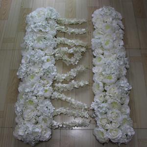 Novas flores arco simulação de seda rosa hortênsia peônia flor decorações de mesa de casamento, casamento estrada chumbo flor 10 pçs / lote