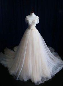 Pinterest Vente Hot réel image Robe de mariée 2017 élégant tissu Tulle Off Sholder étage Longueur Robes de Weddding