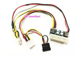 Freeshipping 10PCS / LOT DC 12V 250W 24Pin Pico ATX Switch PSU Car Auto Mini ITX Modulo di alimentazione ad alta potenza 24 Pin 4Pin CPU 4P IDE