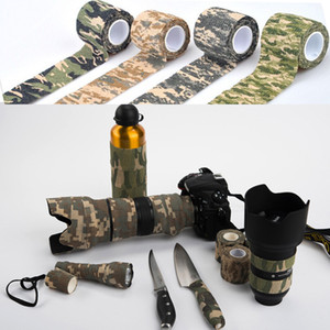 5cmx4.5m Army Camo Sport all'aria aperta Caccia Shooting Tool Camouflage Stealth Tape Impermeabile Wrap Resistente Utile SMTCTK02