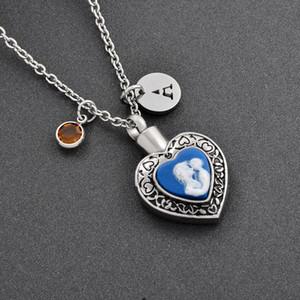 Mom e Child Heart Urn-Cremation Jewelry-Family Member Perdita Cremazione urna Collana pendente Donne-Monili per le ceneri