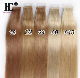 50g 20pcs 18 inch 22 inch Tape in Human Hair Extensions Indian remy straight skin weft tape hair extension