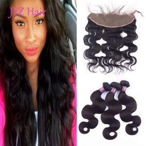 Brazilian Hair bundles Bundles Human Hair Wefts With 13x4 Lace Frontal Indian Peruvian Malaysian Double Machine Weft Body Wave Human Hair