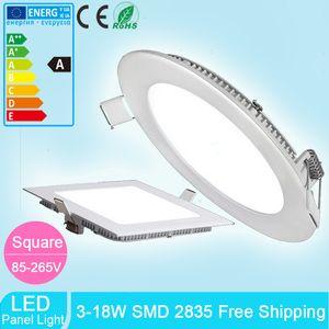 패널의 LED 빛 SMD 2835 3W 6W 9W 12W 15W 18W 110-240V 주도 천장 아래로 최근 램프 SMD2835 통 + 드라이버