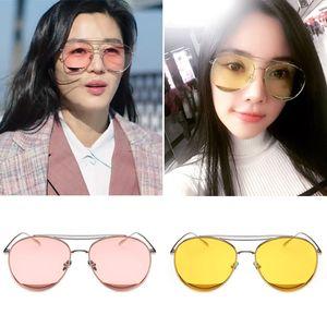 Occhiali da sole retrò di personalità 2017, specchio da rospo trasparente con montatura grande da donna, occhiali da sole alla moda di alta qualità acquisto gratuito all'ingrosso