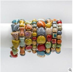 Mão-tecido de cerâmica amor coração circularidade pulseira pequenos presentes osso mais barato pulseiras muitos estilos pode escolher o transporte livre