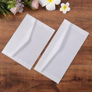 50 Adet / grup 23x16 cm saydam mailler / zarf DIY parşömen kağıt zarflar Düğün Davetiyesi Kartı için Zarflar