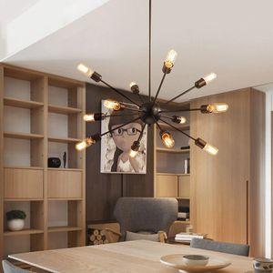 Спутниковые люстры старинные кованые люстры потолочные подвесные светодиодные сферические паук лампы E27 Edison подвесной светильник бар