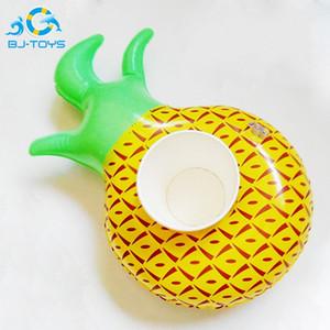 Titulaire gonflable de tasses de PVC gonflable caboteurs ananas pastèque citron boisson coupe titulaire piscine flottant bar sous-verres titulaire populaire 2bj