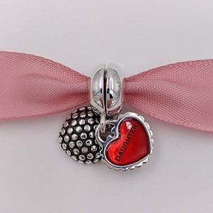 Dia das Mães 925 Sterling Silver Beads Mãe Filha Filho Dangle charme Fit Marca Estilo Europeu Pulseiras 790950EN27 mães presentes Jóias