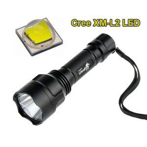 Haute qualité Cree XM-L2 U2 LED Torche Lanterna LED 1 Mode / 5 Modes Tactique Tactique Flash lampe de poche Lanterna Tatira 18650 Lampe de poche