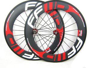 Carbono rodas 38/50/60 / 88mm Clincher com FFWD F4R F5R F6R F9R pintura 700C rodado de bicicleta de estrada de carbono completo com roda de decalque