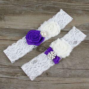 A Pair Of Bridal Garter Wedding Accessories Bridal Decorations Wedding Garter Set Lace Flower Bridal Pearl Garter ZA2845