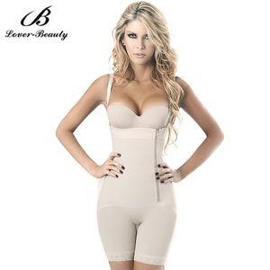 Gros-Lover Beauty Black Zipper Gilet latéral Body Shaper Tummy Gle Control Underbust Shapewear Femmes Minceur Sous-Vêtements Bodys Fajas