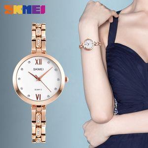 SKMEI 1225 Women Fashion Quartz Wristwatches Elegant Stylish Rhinestones Scale Waterproof Wholesale Ladies Watches Relogio Feminino