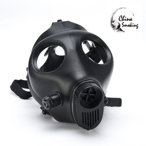 Gas Mask Hookah Only mask Water Pipes Sealed Acrylic Hookah Pipe Bong Filter High quality Solid and Colored Silicon Mask