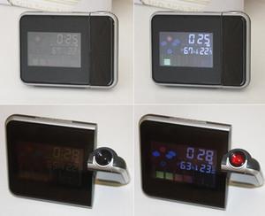Relógio Despertador constante projeção Desk Temperatura Time Display medidor de umidade Backlight Snooze Assista LCD Termômetro Digital