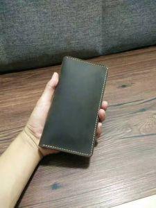 Оригинальный длинный кошелек ручной работы / из натуральной кожи IPHONE6 case / Crazy horse wallet / специальный дизайн для подарка на день рождения / подарка на фестиваль / дизайнерской сумки