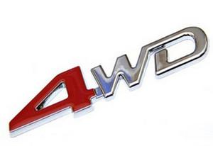 3D ABS Chrome 4WD Distintivo Emblem Sticker 4WD Decal Accessori Sport Adesivi Per Toyota Highlander Per NISSAN X-Trail Xtrail