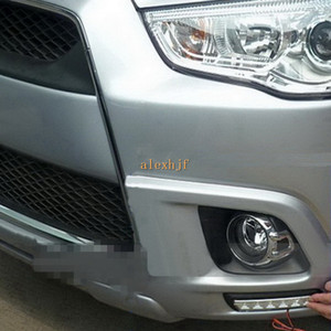 Juillet King LED Front Bumper Fog Lamp Case pour Mitsubishi ASX Outlander Sport 2011 ~ 2013, 6LEDs / pc DRL Daylight Running Lights, livraison gratuite