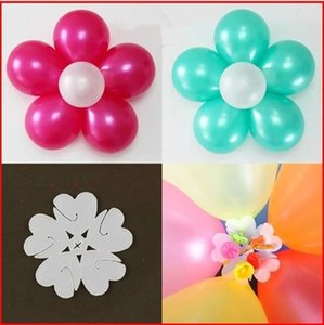 10 pcs Balões De Flores Clipe Balão Globos Flor Balões Decoração Acessórios Plum Clip Folha Prática Balões De Vedação Da Braçadeira