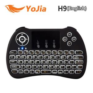 Оригинальная подсветка i8 i8 + H9 2.4 G беспроводная английская клавиатура с подсветкой с сенсорной панелью для мини-ПК Smart TV TV Box ноутбук ПК