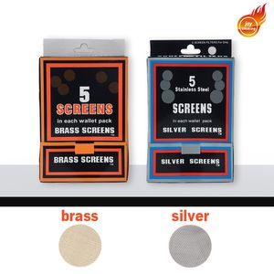 Laiton écran Accessoires pour Fumeurs en acier inoxydable tuyaux Screens Argent / laiton doré pipe métal pipe Promotion