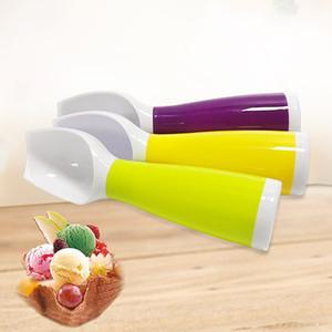 Cuchara de helados de colores Alimento -Grade Plastic Dig Ice Cream Sandía de fruta Digging Spherical Shape Cream