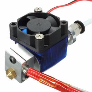 Freeshipping DIY V6 J kafalı MakerBot Reprap 3D Yazıcı Aksesuarlar için soğutma fanı ile 1.75mm Filament Tüm Metal Ektruderinize için Hotend