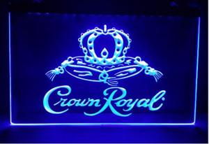 Crown Royal Derby Whisky NR cerveza bar pub club letreros 3d led luz de neón signo