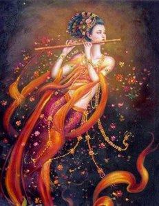 Enmarcado, envío gratis, Dunhuang-Fairy-Avalokitesvara-Guanyin, pintura al óleo pura del arte de Handcraft en lona Los tamaños múltiples se pueden personalizar R163