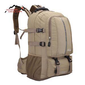 YEREL ASLAN 50L Su Geçirmez Naylon Seyahat Sırt Çantası Zammı Erkekler Tırmanın Bagpack Kampı Mochilas Masculina Laptop Sırt Çantaları Sırt Çantası 420