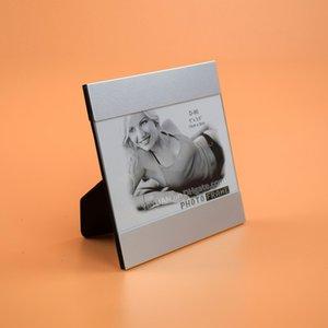 5X3.5 Pouce Table En Métal Cadre Photo En Verre Couverture Style Moderne En Alliage D'aluminium Moulure Bordures Cadres Pour Bureau Bureau Décoration de La Maison