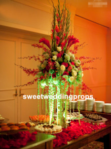 Portacandele in oro Candelabro per tavolo Centro Albero di Natale mentale Stand Decorazione di nozze