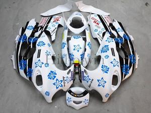 Carenatura in plastica ABS aftermarket per Suzuki GSX600F Katana 2003-2006 GSX 600F 03 04 05 06 set fiocchi di neve blu