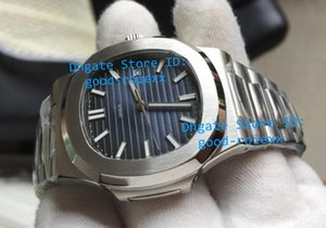 Новые Мужские автоматические календарь 40мм синий часы Мужчины Спорт Погружение Full Steel Nautilus Auto Дата 5711 Часы прозрачная задняя 2813 Наручные часы