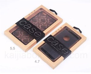 Kraft Paper Box Retail Package Cell Phone Package Caso com + PVC Blister Bandeja + Hanger + Etiqueta para iPhone Blister Embalagem Box