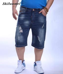 Wholesale- Plus Size Mens Denim Shorts 2017 New Summer style men's short jeans casual trousers cotton pants Fashion Male Short Pants